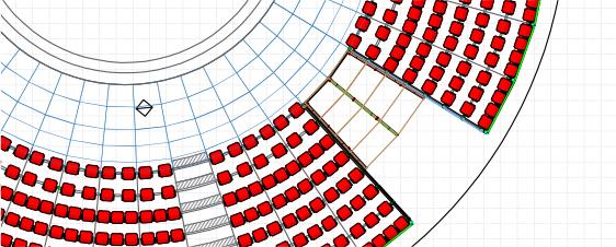 Progettazione allestimenti gradinata