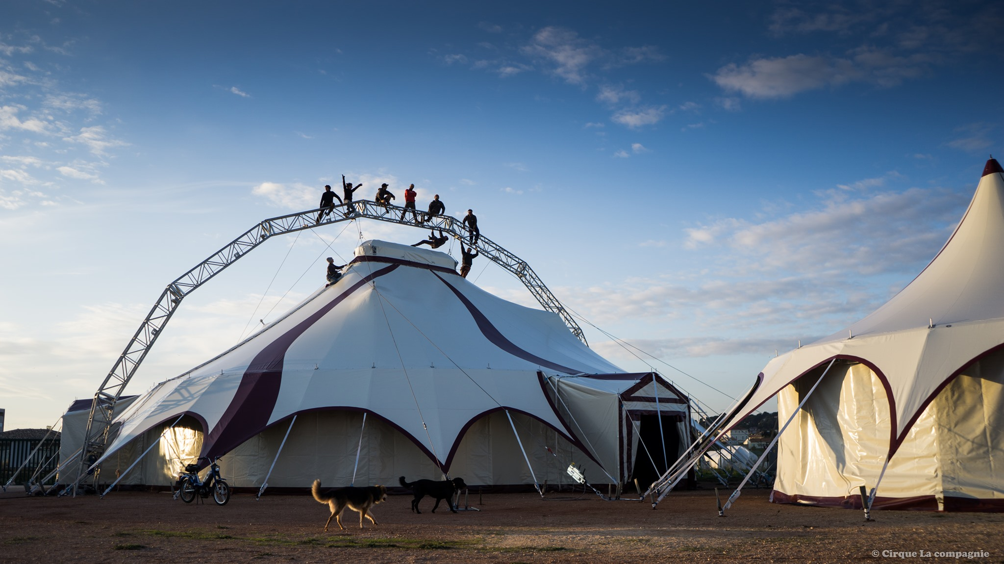 Le nostre strutture metalliche per il Cirque la Companie